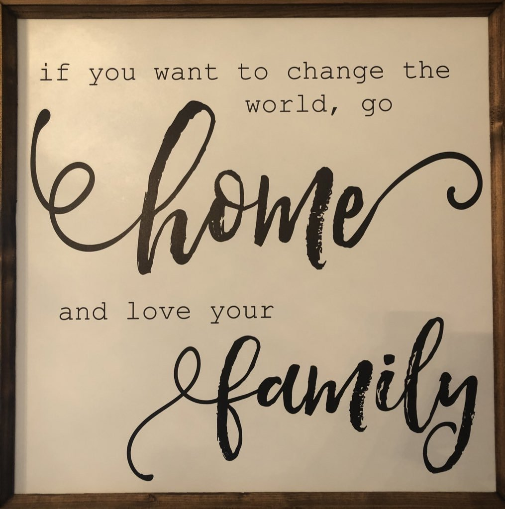 Men of Order: If You Want To Change The World, Go Home And Love Your Family